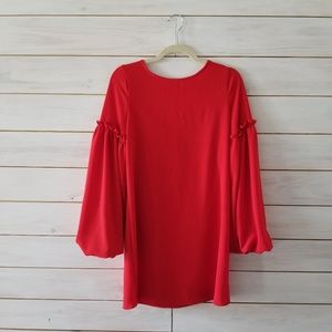 Charlotte Russe Red Peasant Top